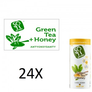 Green tea with honey BIO x 24 paper cans