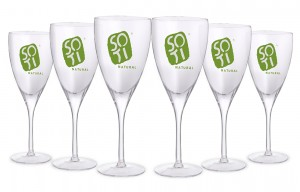 Set of 6 handmade glasses